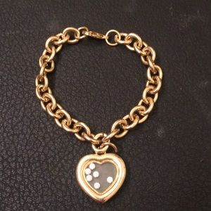 Lord & Taylor Gold Italian Charm Chain Bracelet